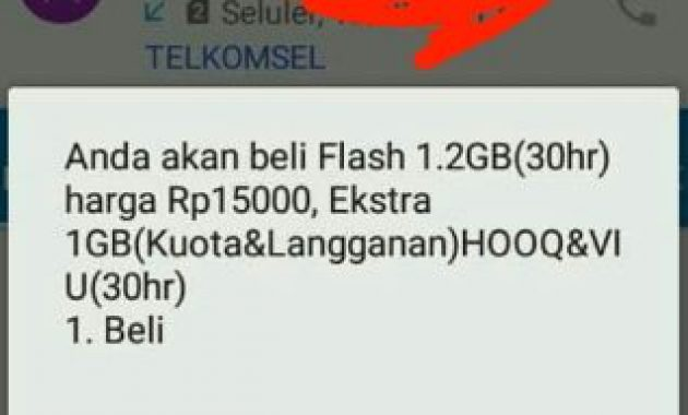 Paket terbaru Telkomsel Flash 1.2GB 15rb